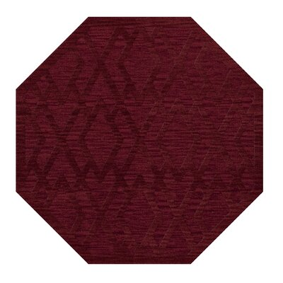 Dover Tufted Wool Rich Red Area Rug Rug Size: Octagon 12