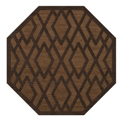Dover Tufted Wool Caramel Area Rug Rug Size: Octagon 8