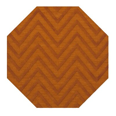 Dover Tufted Wool Orange Area Rug Rug Size: Octagon 6