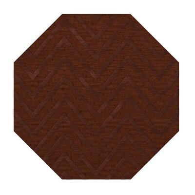 Dover Tufted Wool Paprika Area Rug Rug Size: Octagon 10