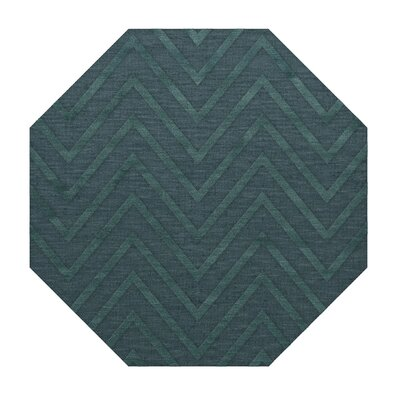 Dover Tufted Wool Teal Area Rug Rug Size: Octagon 8