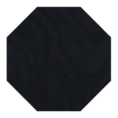 Dover Tufted Wool Black Area Rug Rug Size: Octagon 8