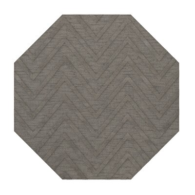 Dover Tufted Wool Silver Area Rug Rug Size: Octagon 4