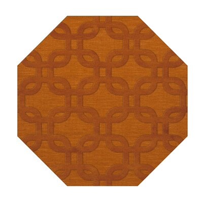 Dover Orange Area Rug Rug Size: Octagon 8'
