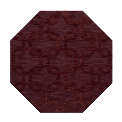 Dover Burgundy Area Rug Rug Size: Octagon 4