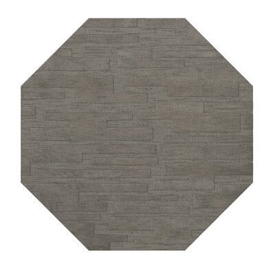 Dover Silver Area Rug Rug Size: Octagon 8