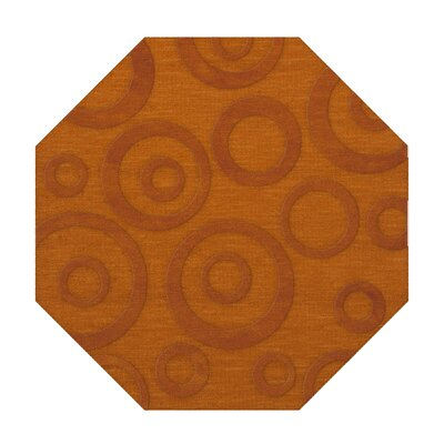 Dover Tufted Wool Orange Area Rug Rug Size: Octagon 8