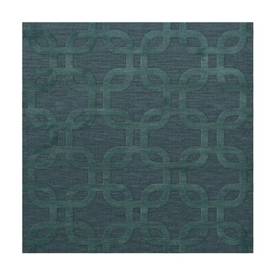 Dover Teal Area Rug Rug Size: Square 10'