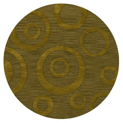 Dover Tufted Wool Avocado Area Rug Rug Size: Round 4