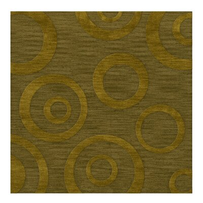 Dover Tufted Wool Avocado Area Rug Rug Size: Square 10