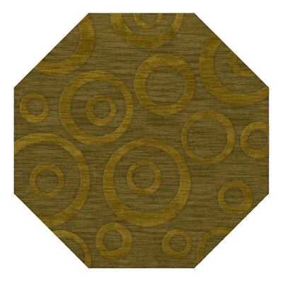 Dover Tufted Wool Avocado Area Rug Rug Size: Octagon 4