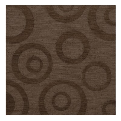 Dover Tufted Wool Mocha Area Rug Rug Size: Square 12
