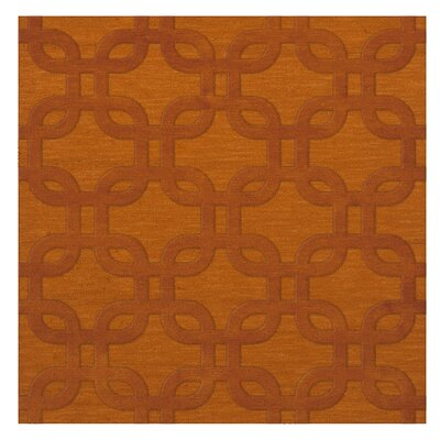 Dover Orange Area Rug Rug Size: Square 6