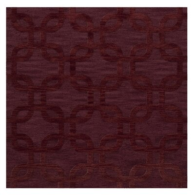 Dover Burgundy Area Rug Rug Size: Square 8