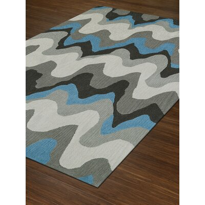 Aloft Silver/Blue Area Rug Rug Size: Rectangle 36 x 56