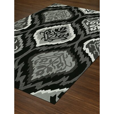 Aloft Black/Gray Area Rug Rug Size: Rectangle 5 x 76