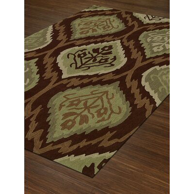 Aloft Paprika/Green Area Rug Rug Size: Rectangle 5 x 76