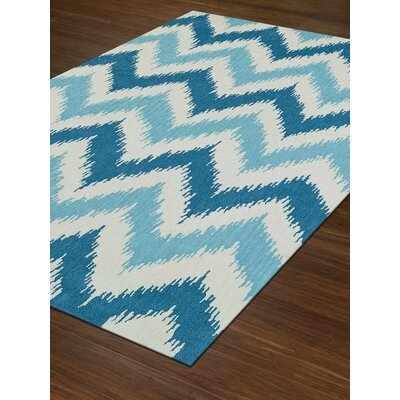 Aloft Aqua/While Area Rug Rug Size: Rectangle 36 x 56