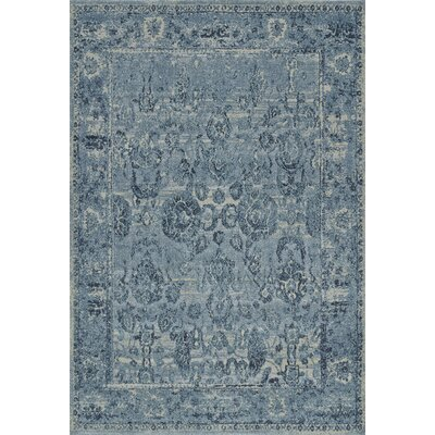 Palma Sky Blue Area Rug Rug Size: Rectangle 53 x 77