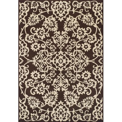 Messina Chocolate/Ivory Area Rug Rug Size: Rectangle 411 x 7