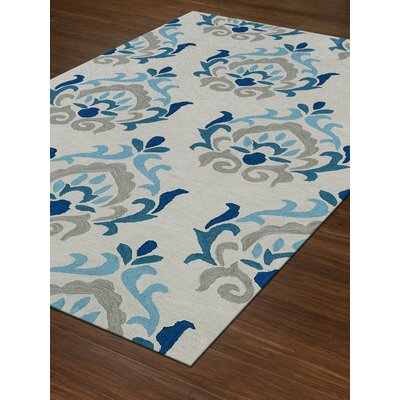 Aloft Ivory/Blue Area Rug Rug Size: Rectangle 9 x 13