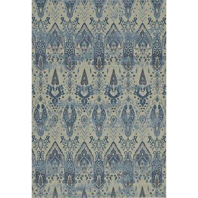 Billie Dalyn Beige/Blue Area Rug Rug Size: 53 x 77