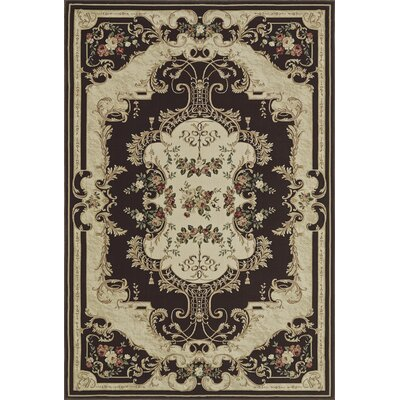 Rosas Chocol Area Rug Rug Size: Rectangle 53 x 77