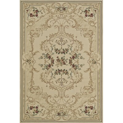 Rosas Ivory Area Rug Rug Size: Rectangle 33 x 51