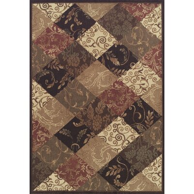 Arends Brown / Beige Checked Area Rug Rug Size: Rectangle 53 x 77