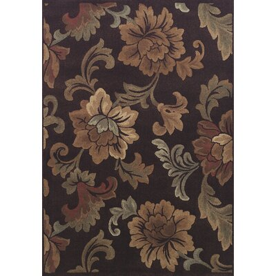 Arends Brown Sable Floral Area Rug Rug Size: 53 x 77