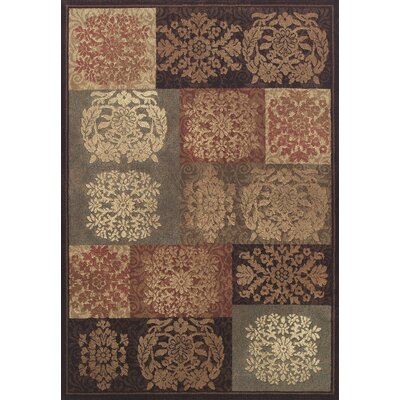 Capri Sable / Grey Patchwork Area Rug Rug Size: Rectangle 53 x 77