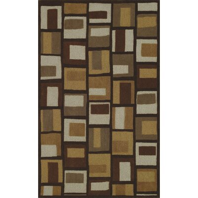 Structures Chocolate Geometric Area Rug Rug Size: 96 x 136