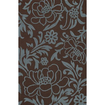 Structures Chocolate Floral Area Rug Rug Size: Rectangle 96 x 136
