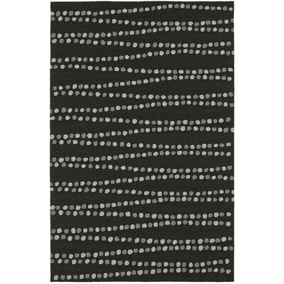 Amee Hand-Tufted Black Indoor/Outdoor Area Rug Rug Size: 36 x 56