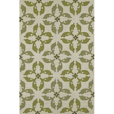Cabana Hand-Tufted Lime Indoor/Outdoor Area Rug Rug Size: 36 x 56