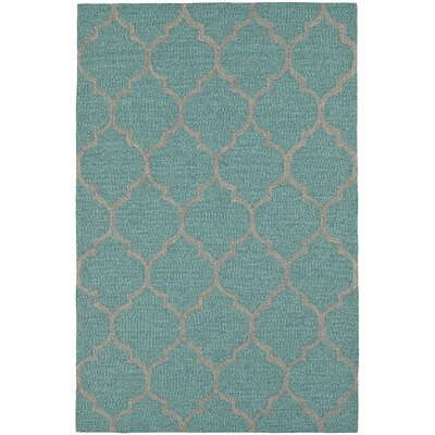 Cabana Hand-Tufted Robins Egg Indoor/Outdoor Area Rug Rug Size: Rectangle 36 x 56