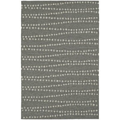 Amee Hand-Tufted Pewter Indoor/Outdoor Area Rug Rug Size: 36 x 56