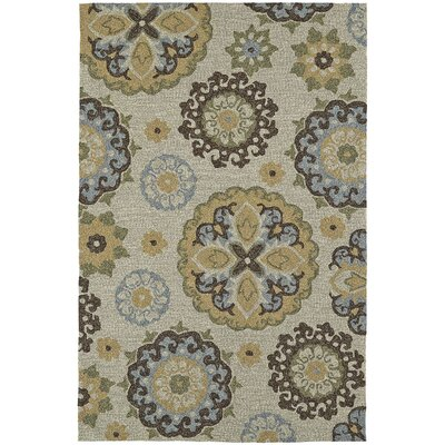 Cabana Hand-Tufted Linen Indoor/Outdoor Area Rug Rug Size: 36 x 56