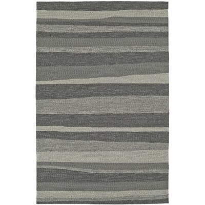 Lovitz Hand-Tufted Pewter Indoor/Outdoor Area Rug Rug Size: 8 x 10
