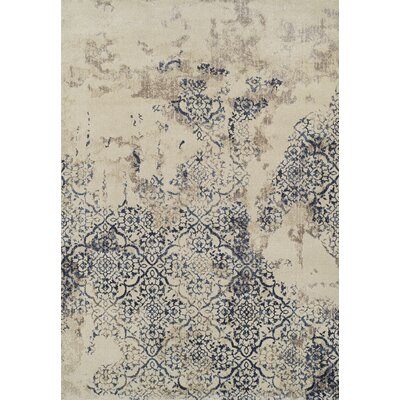 Acahela Navy Area Rug Rug Size: Rectangle 53 x 77