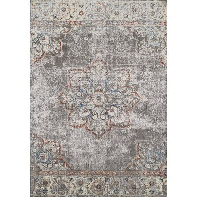 Lavita Grey & Silver Area Rug Rug Size: Rectangle 53 x 77