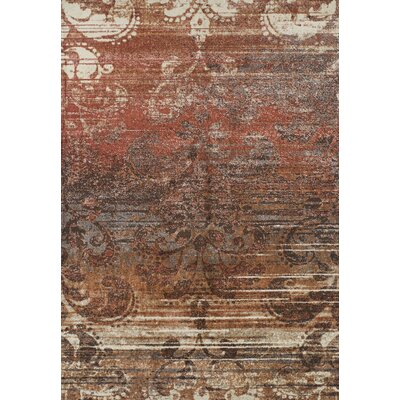 Larkin Paprika Area Rug Rug Size: Rectangle 53 x 77