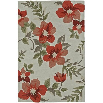 Maui Hand-Tufted Green/Salmon Area Rug Rug Size: 8 x 10