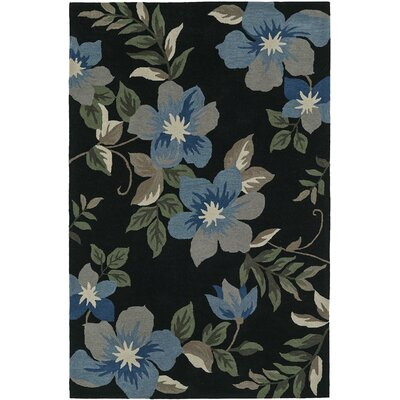 Maui Black Area Rug Rug Size: Rectangle 9 x 13