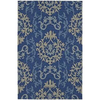 Cabana Hand-Tufted Navy Indoor/Outdoor Area Rug Rug Size: Rectangle 8 x 10