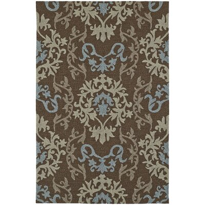 Cabana Hand-Tufted Chocolate Indoor/Outdoor Area Rug Rug Size: Rectangle 5 x 76