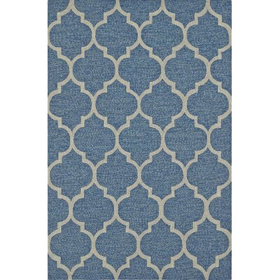 Cabana Hand-Tufted Sky Indoor/Outdoor Area Rug Rug Size: 3'6