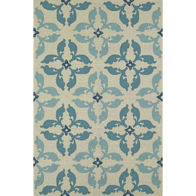 Cabana Hand-Tufted Peacock Indoor/Outdoor Area Rug Rug Size: Rectangle 36 x 56