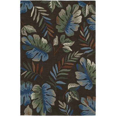 Maui Chocolate Area Rug Rug Size: Rectangle 9 x 13