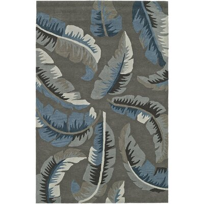 Maui Hand-Tufted Taupe Area Rug Rug Size: Rectangle 36 x 56